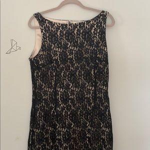 Fits like 12. Ann Taylor black lace dress